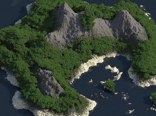 скачать карту для Minecraft остров - фото 2