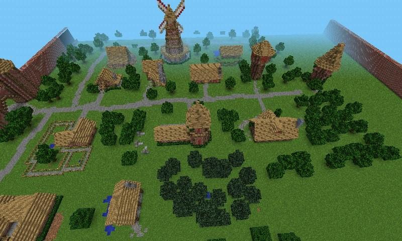 Как сделать деревню в майнкрафт