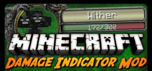 Мод Damage Indicators 1.7.10/1.7.2/1.6.4/1.5.2